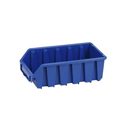 1 Stück Blau Langformat Stapelbox Materialbox Regalbehälter Werkstattkiste