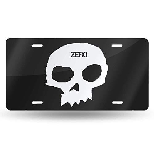 MYGED Metal Vintage Zero Skateboards Single Skull License Plate Car Accessories 6' X 12'
