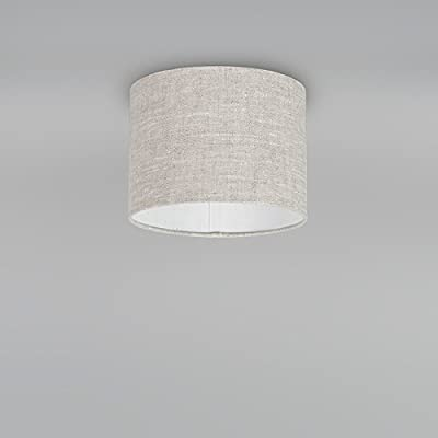QAZQA Moderno Algodón y poliéster Pantalla tela gris claro 20/20/15, Redonda/Cilíndrica Pantalla lámpara colgante,Pantalla lámpara de pie: Amazon.es: Iluminación