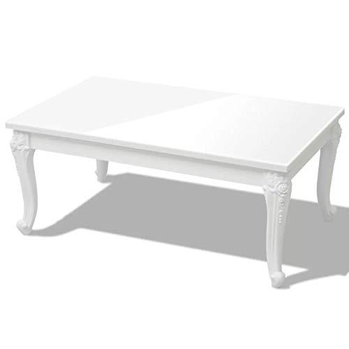 vidaXL Table basse 100 x 60 x 42 cm Laquée Blanc