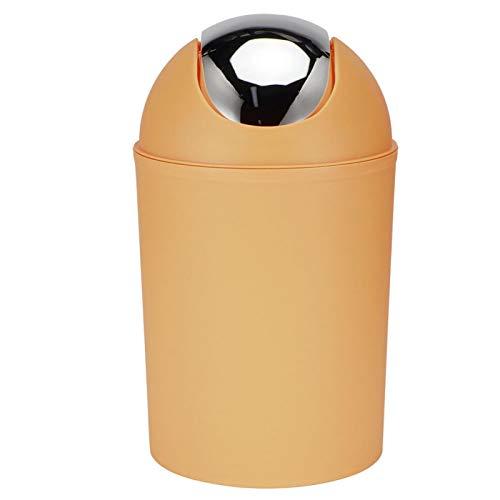 Aoutecen Cubo de Basura pequeño con Tapa, Cubo de Basura doméstico Compacto Resistente Cubo de Basura Moderno Fuerte extraíble para Sala de Estar(Naranja)