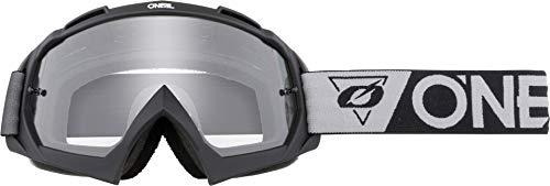 O'Neal | Gafas de Bicicleta y Motocross | MX MTB | Lente moldeada de alta precisión en 3D, resistencia a los impactos, 100% de protección UVA/B/C | Gafas B-10 | Negro Gris Claro | Talla Única