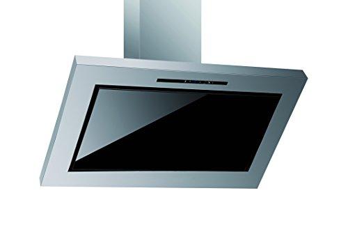 Pyramis SOLIDO 90 Wandhaube / 900 cm / Touch-Control-Bedientasten / Edelstahl / schwarz