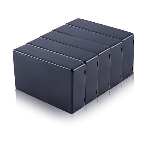 Yosoo 5 piezas de 100 x 60 x 25 mm negro cubierta de plástico Proyecto caja de instrumentos electrónica DIY caja de conexiones de alimentación