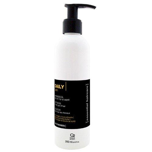 Essential Haircare - Baume Conditionneur Quotidien - Après Shampoing, Traitement Professionnel Capillaire Hydratant Professionnel pour Usage Fréquent - Beurre de Karité et Huile d'Argan - 250 ml