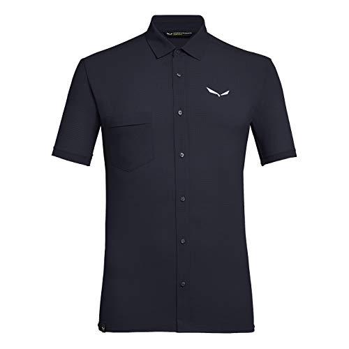 SALEWA Herren Hemden und T-shirts PUEZ MINICHECK2 Dry M S/SRT, Premium Navy, 48/M, 00-0000027736