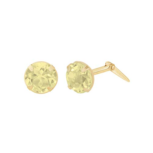 9ct yellow gold 3.5mm citrine gemstone earrings gift box included