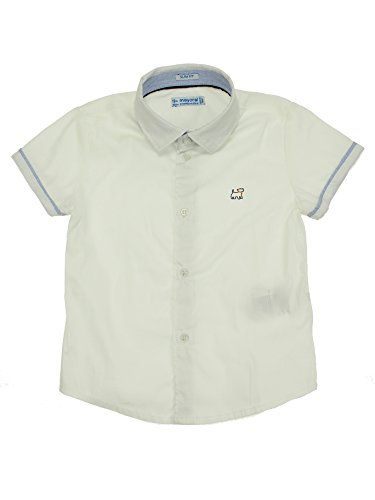 Mayoral 28-01154-028 - Camisa para bebé niño 18 Meses Blanco