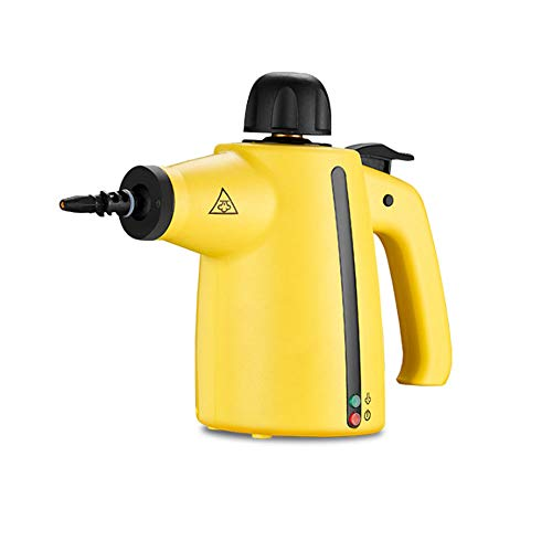 ZXCVB Multi-Purpose Steam Cleaner, Powerful, Sanitizer, High Pressure Chemical Free Steamer With, Perfect for Stain Removal, Carpet, Curtains,Yellow