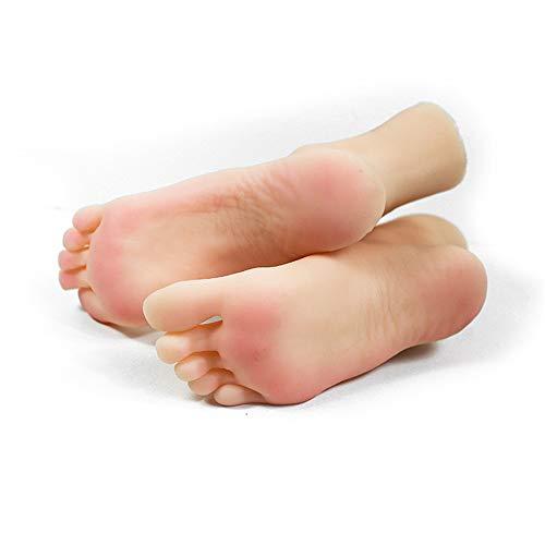 AFYH Silicone Pieds Modèle, Beaux Pieds féminins Copie Silicone 1: 1 pour Faire de Beaux Pieds, utilisés pour Les Chaussures et Les Chaussettes Bijoux et Collection de modèles de Pieds