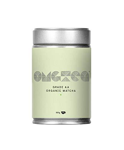 Te Verde Matcha Organica en Polvo - Matcha Premium Japones Grado A lata de 80g - Perfecto para te, cafe con leche, batidos, helado - Aumenta la energia - Impulsa el metabolismo - Mejora el enfoque