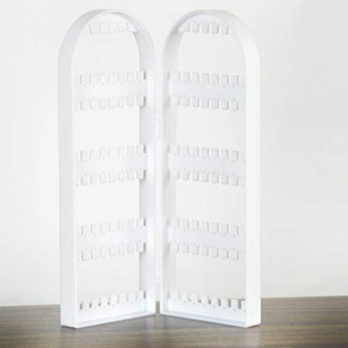HermosaUKnight Pantalla de visualización de Joyas Organizador de Pulsera con Soporte para Pendiente Plegable (Panel blanco2)