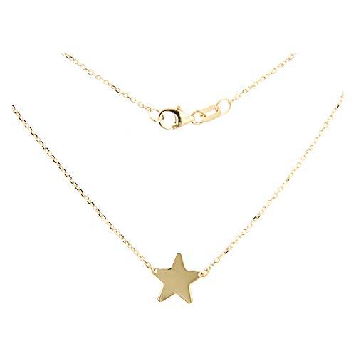 Lucchetta Joyas - Conjunto de Colgante y Collar Oro Amarillo para Mujer y Niña - Hecho en Italia