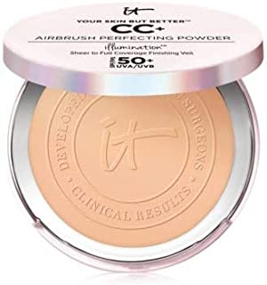 Your Skin But Better CC+ Airbrush Perfecting Powder Illumination SPF 50+ Medium