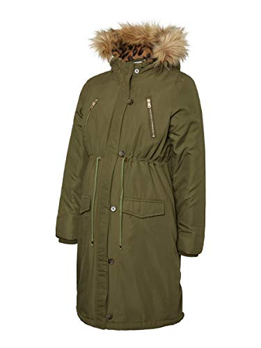 MAMALICIOUS MLDAISY Padded Coat A. Abrigo premamá, Verde (O