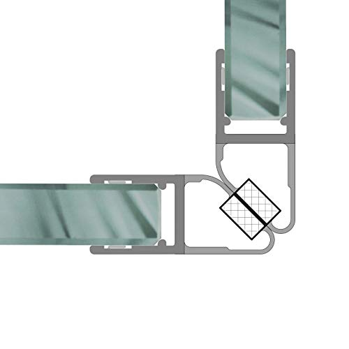 Magnetdichtungen Duschdichtung 90° Magnetprofil Steckprofil Duschdichtung Glasdusche 1 Set für 6-8 mm Glasstärke