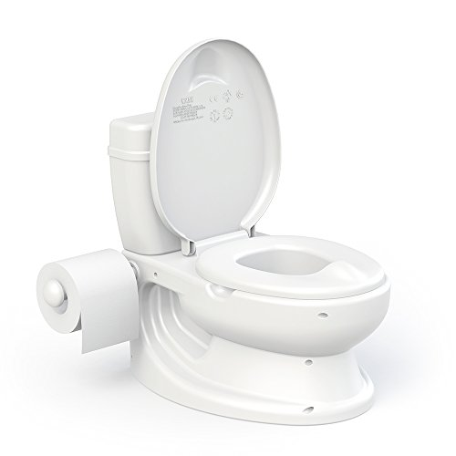 Toylet Potty Training Toilet with Comfy Potty Chair Training Seat Cover, Tank Storage & Paper Roll Holder is A Training Potty for Girls & Boys Or Potty Chair