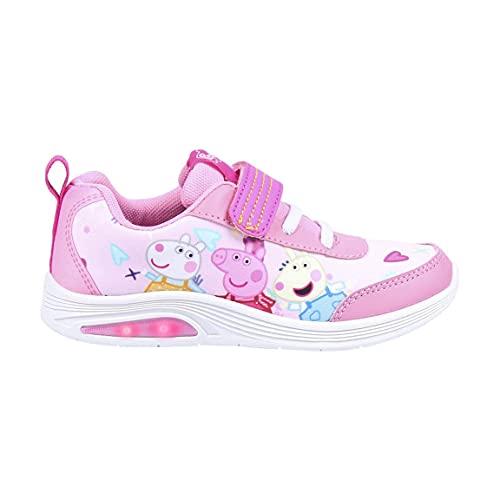 CERDÁ LIFE'S LITTLE MOMENTS, Zapatillas con Luces Niña de Peppa Pig-Licencia Oficial Nickelodeon Niñas, Rosa, 28 EU