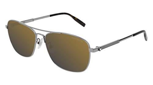 Mont Blanc Gafas de Sol MB0026S Ruthenium/Gold Hombre