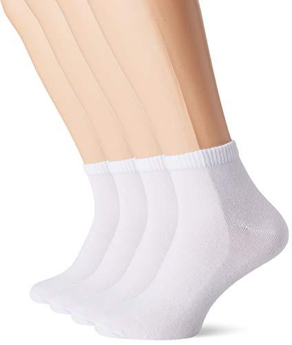 s.Oliver Socks Herren S21007 Füßlinge, 4er Pack, Weiß (White 1000), Herstellergröße: 43/46