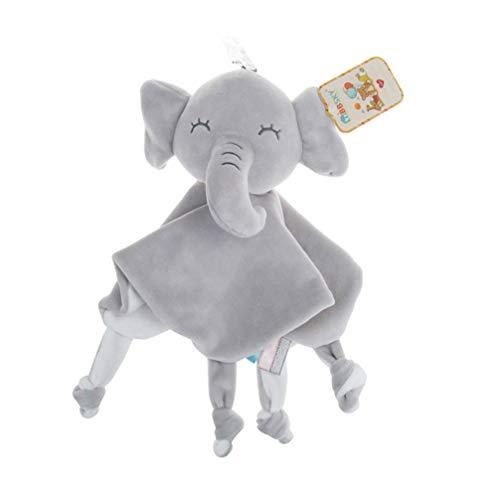 Toyvian Doudou de Bebés Manta de Seguridad Bebés de Elefante Mantitas de Arrullo Juguete de Pluche para Bebé Recién Nacidos