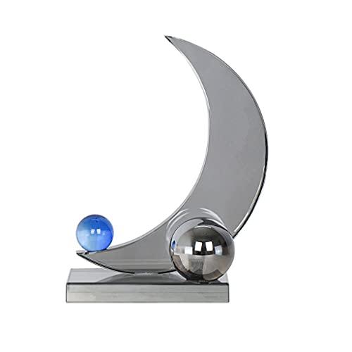 Estatuas de Feng Shui Adornos de la luna de humo humeante humeante del estilo moderno de estilo europeo Ornamentos de escritorio para el hogar creativos adornos de oficina Estatua de riqueza