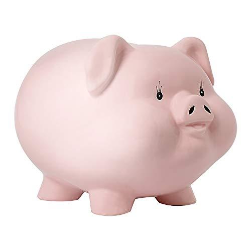 Eco Memos Hucha para Niños Banco de Dinero de Cerámica - Debe Romperse para Acceder al Dinero Banco de Monedas en Efectivo de Gran Capacidad para Adultos - Regalo de Cumpleaños (Large)