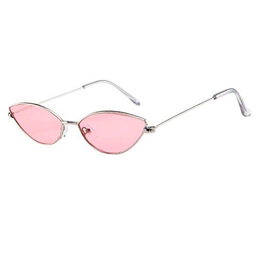 Dragon868 Sonnenbrille Damen Herren Cateye Kleine Rahmen Oval Retro Vintage Sonnenbrille Brillen (F)