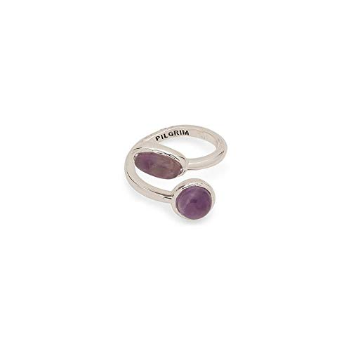Pilgrim Ring Wendell- Silber plattiert, Amethyst