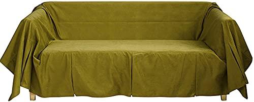 Sliyemo Funda de sofá de Color sólido, Cubiertas de sofá Gruesas de Lujo, Cubiertas de sofá seccional para 1 2 3 4 Sofá de Asiento Protector para Perros adecuados (Color : F, tamaño : 180 * 300cm)