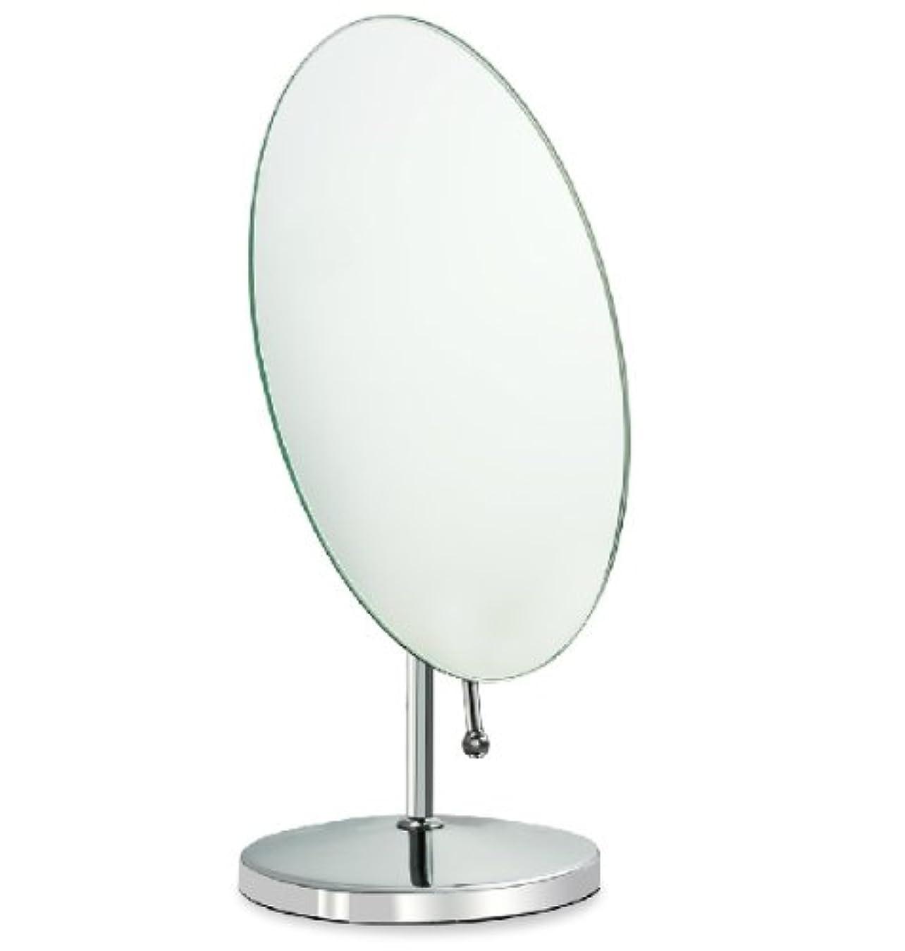ラフ睡眠科学多様な鏡 卓上鏡 化粧鏡 スタンドミラー 全方向可動式 取っ手付き鏡 大きめな楕円形