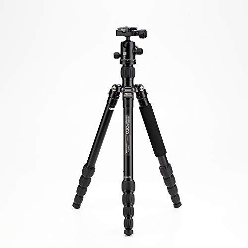 MeFOTO RoadTrip Classic Lightweight 61.6' Aluminum Travel Tripod/Monopod w/Case, Twist Locks, Triple Action Ballhead w/Arca Swiss Plate for Mirrorless/DSLR Sony Nikon Canon Fuji -  Black (A1350Q1K)