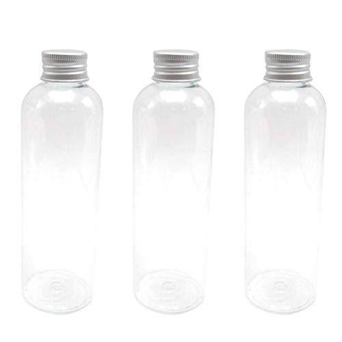 UPKOCH 6pcs 200ml Leer Kleine Kunststoffflaschen zum befüllen transparente Plastikflasche Saftflaschen mit Aluminium Schraubdeckel Likörflaschen für Candy Schnaps Saft Öl