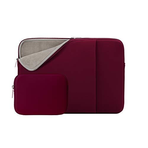 """RAINYEAR 13-13,3 Pollici Custodia Protettiva per Laptop PC Computer Tasca Sleeve Morbide con Piccola Borsa Aggiuntiva,Compatibile 13,3"""" MacBook Air Pro Chromebook Notebook(Rosso,Versione Aggiornata)"""