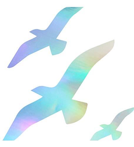 Pegatina Promotion Vögel fliegen scheibenschutz Aufkleber ca.20 cm Oilslick Folie Oil Slick Öl Effekt Autoaufkleber,Wandtattoo, Waschanlagenfest, Profi-Qualität, Decal,Sticker