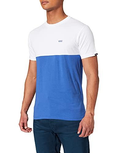 Vans Colorblock tee Camiseta, Blanco Ultramarino Profundo, S para Hombre