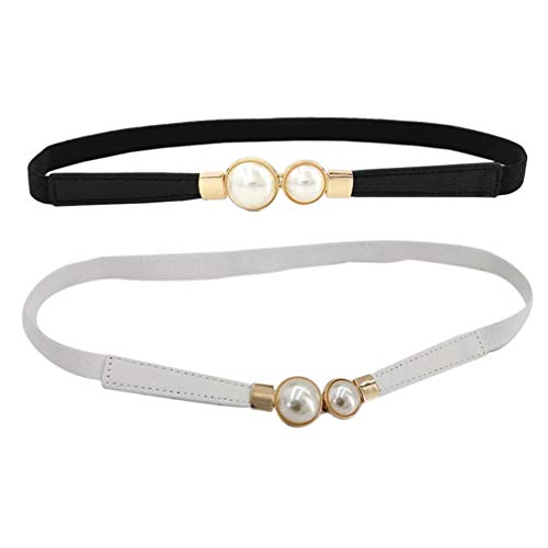 EXCEART 2 Piezas de Cadena de Cintura de Perlas sin Hebilla Cinturón...