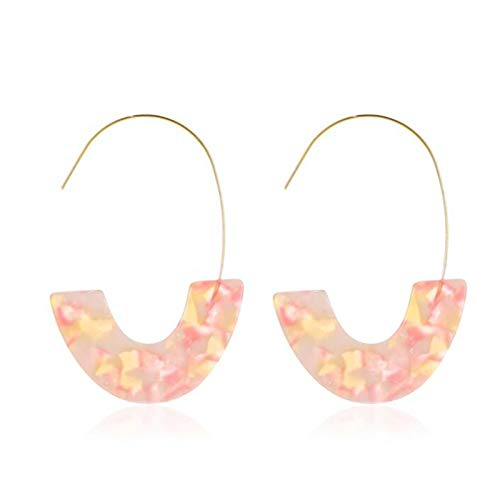 U/K Ladies earrings, resin, acrylic, leopard trailer, ethnic style, vintage style, fashion statement earrings for girls (Color : 5)