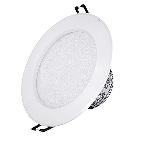 Dimmbare Deckenleuchte Einbaustrahler Downlight 5W Kein Flimmern Bildanzeige Akzentlampe Brandschutz Energieeinsparung Badezimmer Flur Bühnendekoration [Energieklasse A ++] (Color : 7W-White light)