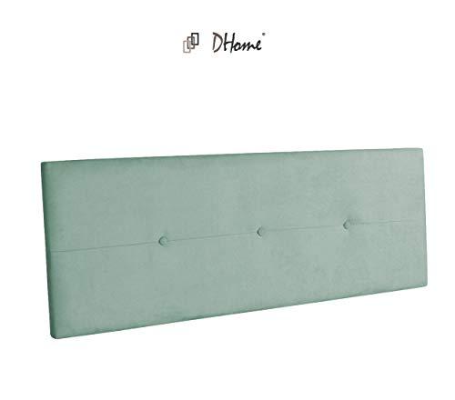 DHOME Cabecero de Polipiel o Tela AQUALINE Pro cabeceros Cabezal tapizado Cama Tela Verde Agua, 160cm (Camas 150/160)
