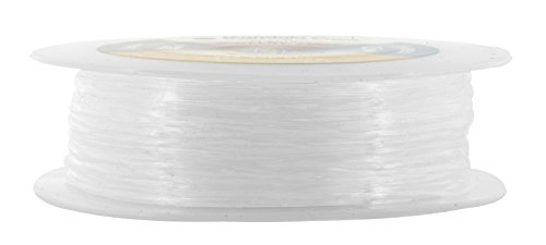 Mandala Crafts Clear Elastic Cord Stretchy Fiber String for Bracelets, Jewelry Making, Beading (0.6mm 170 Meters 557 Feet)