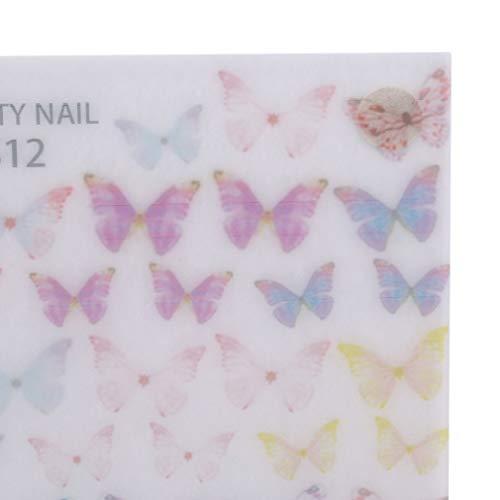 N/A Papillon Forme Ongles Art décorations approvisionnement décalcomanies à la Main Flatback Verre charmes Pierres précieuses Pierres Kit Mixte,S12