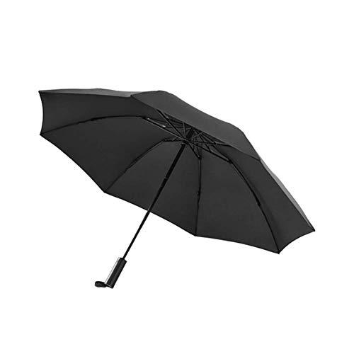 NFRADFM Paraguas,Paraguas soleado,Paraguas de iluminación plegable totalmente automático,Parasol de playa portátil resistente a los rayos UV con lluvia a prueba de viento