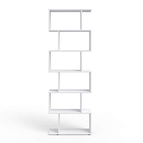 Vicco Separador de ambientes LEVIO Separador de Habitaciones estantería Separador Organizador con estantes estanterías de almacenaje Separador de Espacios (Blanco)