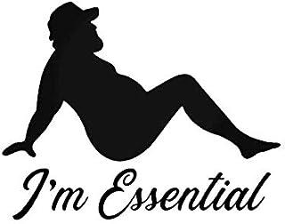 """""""I'm Essential Mud Flap Guy"""", lustiger MKR Aufkleber, Vinyl Aufkleber, Autos, LKWs, Wände, Laptops, 14 x 11 cm, Schwarz"""