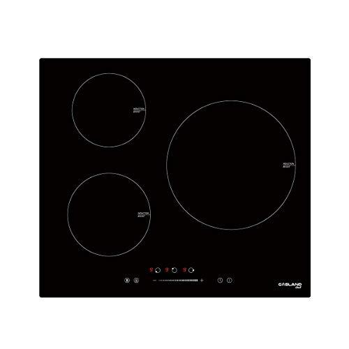 Gasland Chef IH603BF Plaque de Cuisson à Induction Intégrée avec 3 Zones 5800W, avec Contrôle Tactile Coulissant, Fonction Booster, 60cm