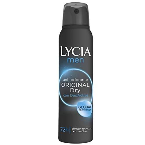 Lycia Men Original Dry Spray Antiodorante Uomo 72h Protezione 150 ml