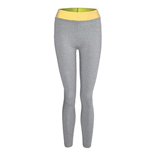 Pantalons de sport Pantalon de yoga Femmes, Toamen Faire des exercices Impression d'amour Sports de fitness Gym leggings Fonctionnement Pantalon athlétique Femmes (XL, Jaune)