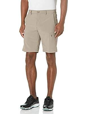 IZOD Men's Golf SwingFlex Cargo Short, Stonedust, 42
