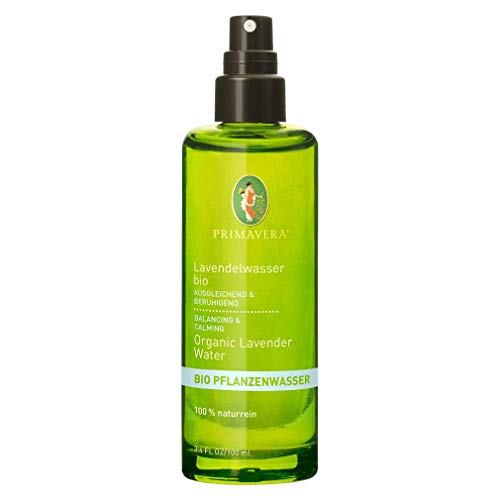 PRIMAVERA Pflanzenwasser Lavendelwasser bio 100 ml - Körperspray, Hautpflege - beruhigend, wohltuend - bei Juckreiz und Hautirritationen - vegan - Naturkosmetik, ätherische Öle